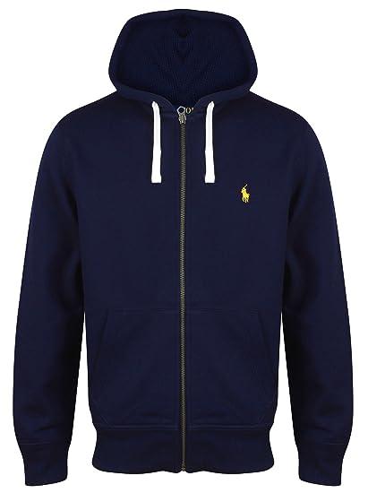 Ralph Lauren Polo Full Zip Hooded Sweatshirt Hoodie Hoody Cotton Navy M