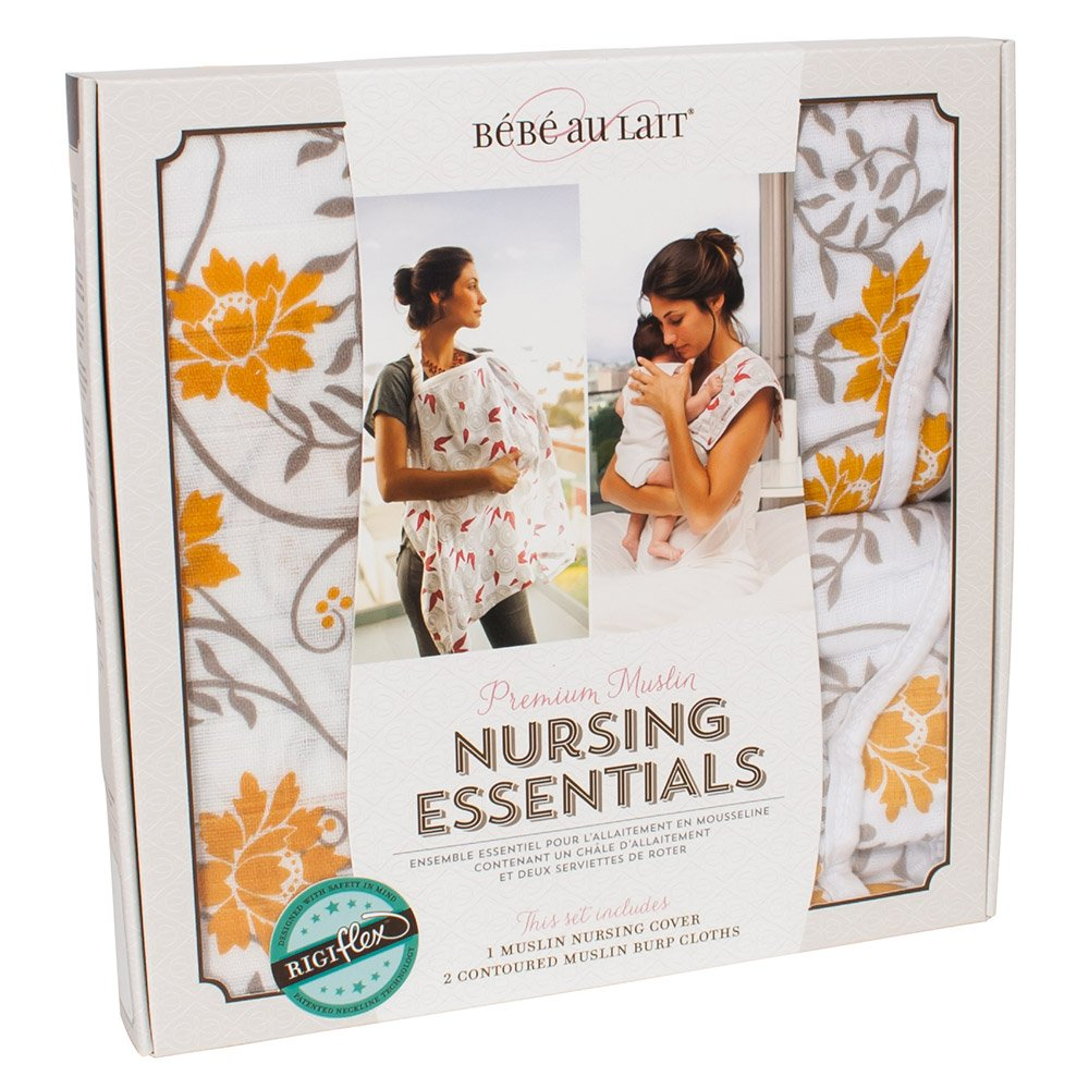 Bebe au Lait Premium Muslin Nursing Essentials Set, Soleil