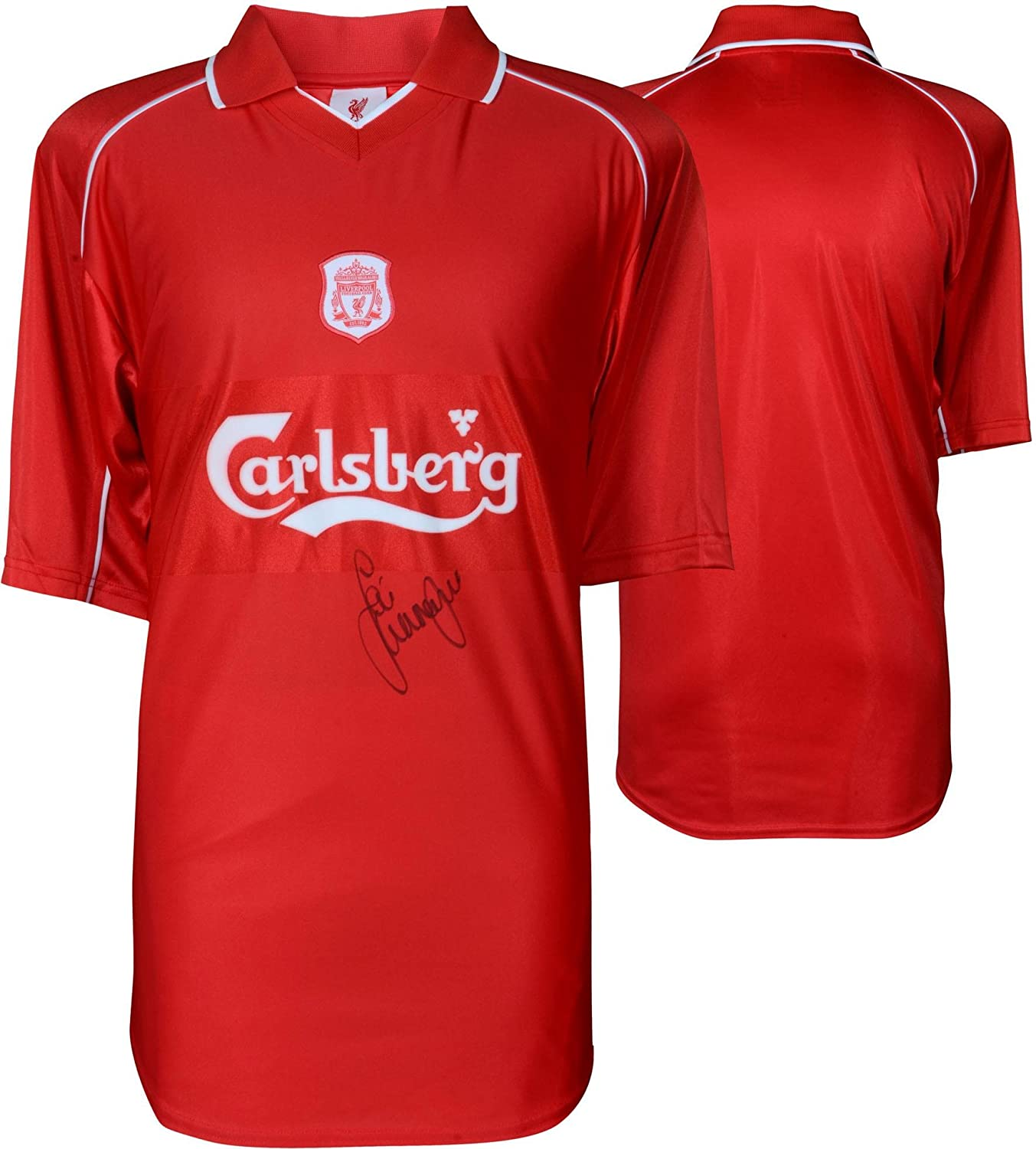 the latest 672a2 33279 Jamie Carragher Liverpool Autographed Red 2001-2002 Jersey ...