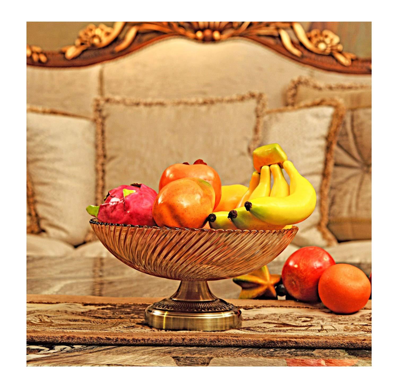 KDJHP クリスタルガラススレッドフルーツプレートヨーロッパの装飾品クリエイティブ装飾モデル装飾器具キャンディ皿 -フルーツバスケット   B07PH8KDPX