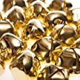 24 Gold 35mm Jumbo Jingle Bells for Crafts | Craft Bells