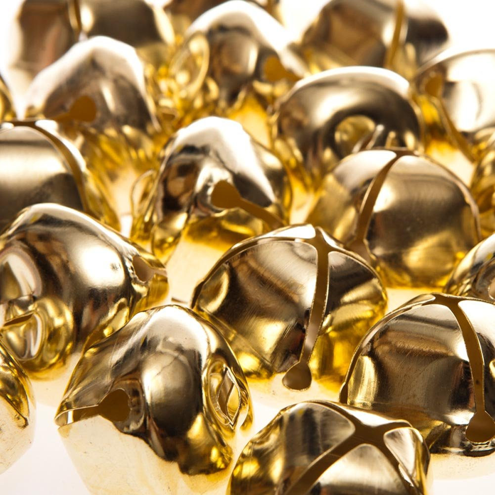 24 Gold 35mm Jumbo Jingle Bells for Crafts | Craft Bells Crafty Capers 146-2071