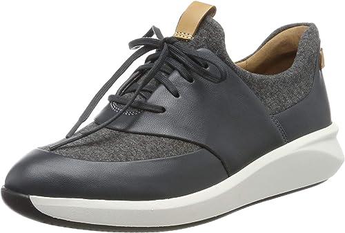 frágil chocolate Confesión  Clarks Women's Un Rio Lace Low-Top Sneakers: Amazon.co.uk: Shoes & Bags