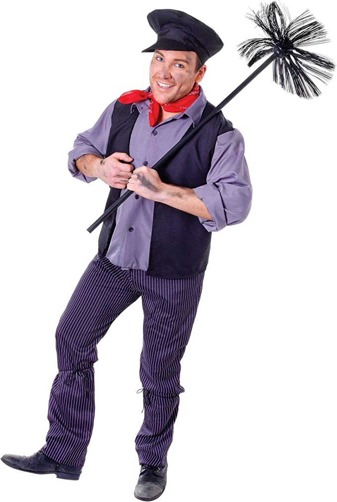 Edwardian Men's Fashion & Clothing Bristol Novelty Unisex Chimney Sweep Costume £22.44 AT vintagedancer.com