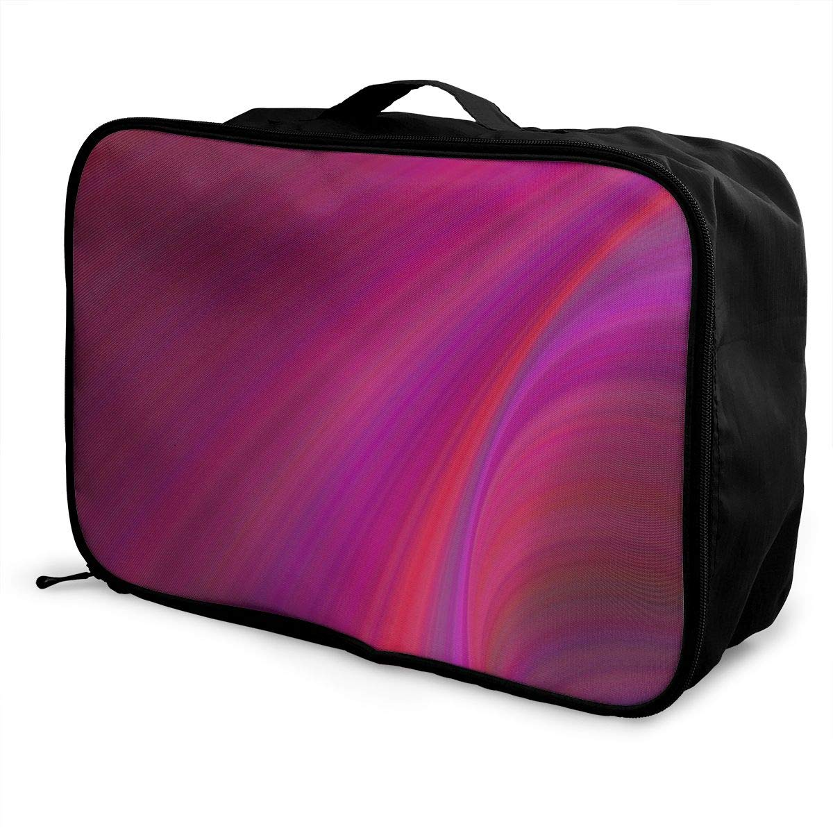 Ellipse Abstract Design Shape Travel Lightweight Waterproof Foldable Storage Carry Luggage Large Capacity Portable Luggage Bag Duffel Bag