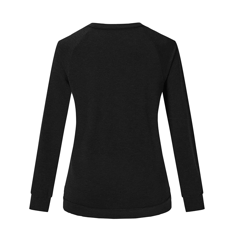 Seoullifee Dog Mom Cat Mom Sweatshirts Long Sleeve Crew Neck Letter Print Shirts Blouse Top