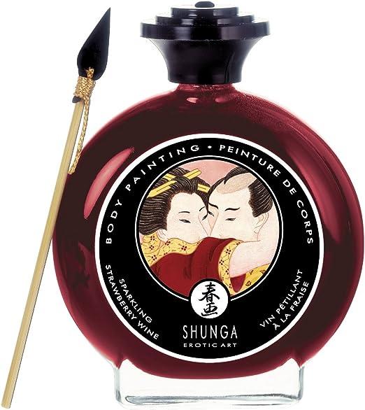 Shunga Pintura Corporal, Aroma de Fresas con Champagne, Color Granate - 100 ml: SHUNGA: Amazon.es: Alimentación y bebidas