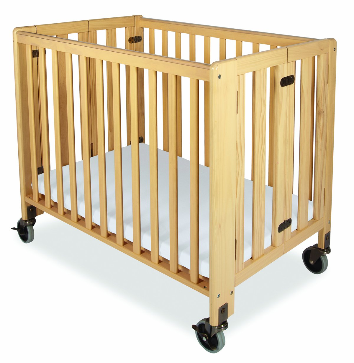 Amazon.com : Foundations Hideaway Full Sized Folding Crib, Natural : Portable  Crib : Baby