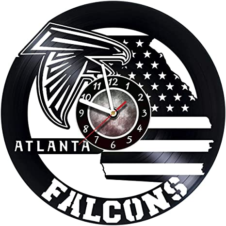 Amazon Com Steparthouse Falcons Handmade Gift Vinyl Wall Clock Get Unique Gifts Presents For Birthday Christmas Ideas For Boys Girls Men Women Adults Him And Her Unique Design Home Kitchen