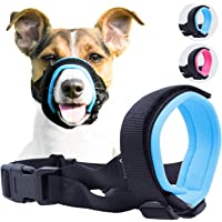 """Gentle Muzzle Guard for Dogs - Prevents Biting Unwanted Chewing Safely Secure Comfort Fit - Soft Neoprene Padding €"""" No More Chafing €"""" Included Training Guide Helps Build Bonds Pet"""