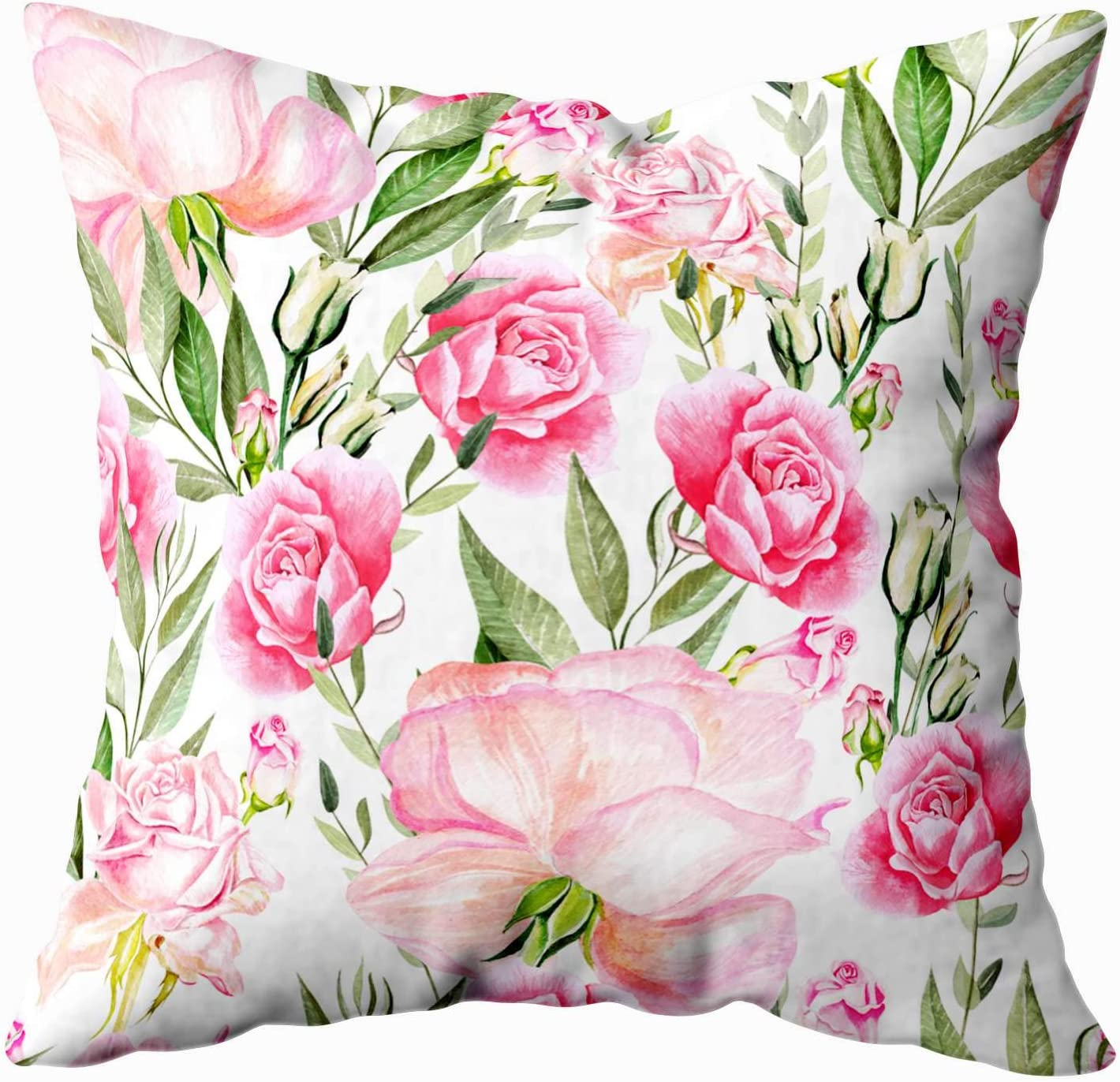 Amazon Com Douecish Gold Accent Pillows Beautiful Bright Watercolor Pattern Roses Throw Pillow Covers Cushion Soft Home Sofa Decorative Throw Pillow Cases Home Kitchen
