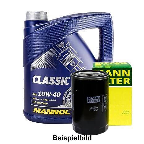 ölwechsel Juego 4L Mannol 10 W de 40 + Muñeco de aceite