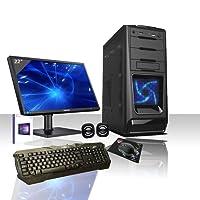 PC Desktop casc02LED Bleu Intel Quad Core avec Windows 10Professional 64bit d'origine/Wifi/HD 1TB SATA III/RAM 8GB 1600MHz HDMI-DVI-VGA USB 2.03.0SD Audio, vidéo VGA, LAN/moniteur LED HD Samsung 22pouces VESA/clavier et souris gaming Multicolor/PC fixe complet prêt à l'utilisation multimédia, jeux, bureau, Gaming alantik casc02
