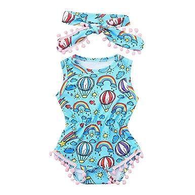 Btruely Mono para niñas, pequeño bebé Camisetas sin Mangas ...