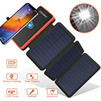 $45 » POWOBEST 20000mAh Portable Waterproof Camping Gear Wireless Solar Phone Charger,Solar Battery Pack,Outdoor Power Bank with Led Light…