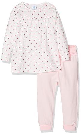 b105788ba8 Sanetta Baby-Mädchen Zweiteiliger Schlafanzug Pyjama Long Beige (Broken  White 1427) 74