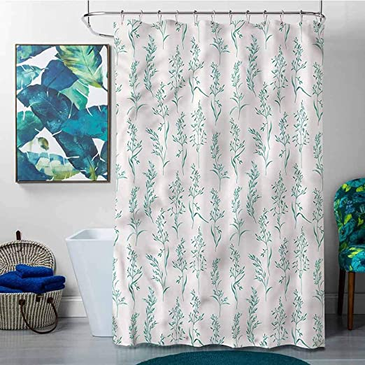 Amazon.com: SKDSArts Shower Curtains Longer Than 72 inches Floral