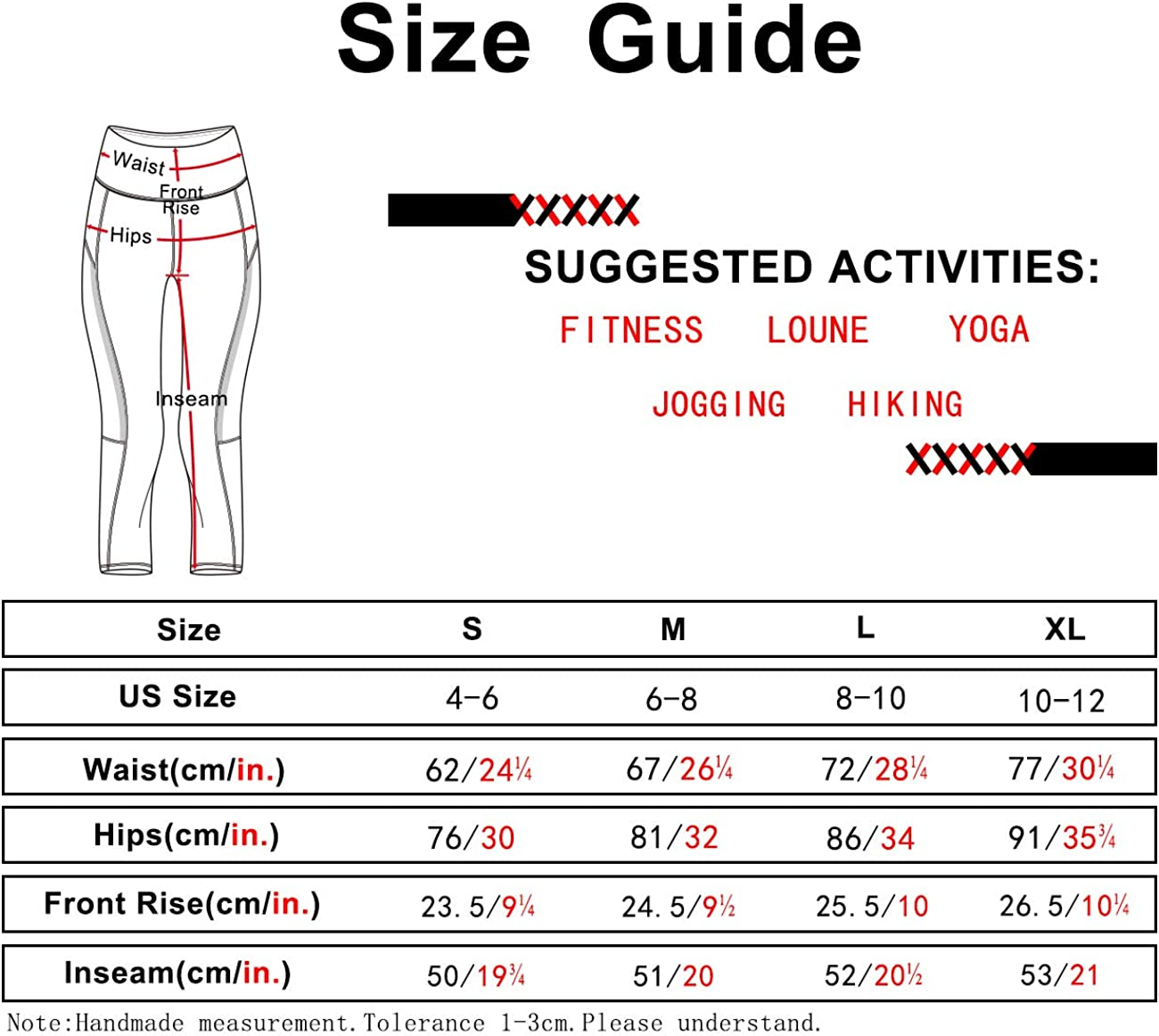 icyzone Damen Sporthose 3//4 Yoga Leggings Fitness Capri Hohe Taille Jogginghose Trainingshose
