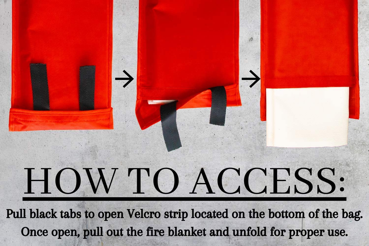 ATX 2 Pack Fire Blanket//Fireproof Blankets for Emergency//Fiberglass Safety Fire Retardant Blanket in Wall Hanging Bag//Home Fireplace Kitchen Stove and Grill Grease Fires Online Retailers FBA