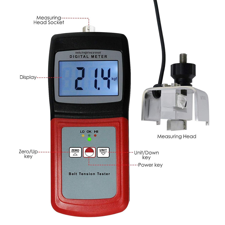 Amazon.com: Digital Belt Tension Meter Gauge, 0~77 kg / 0 ...
