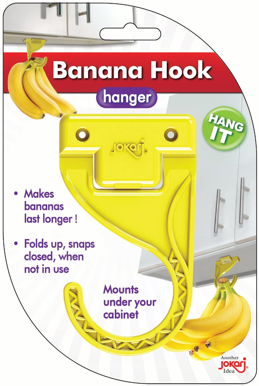 Jokari 4 Count Flip-Down Banana Ripening Hooks
