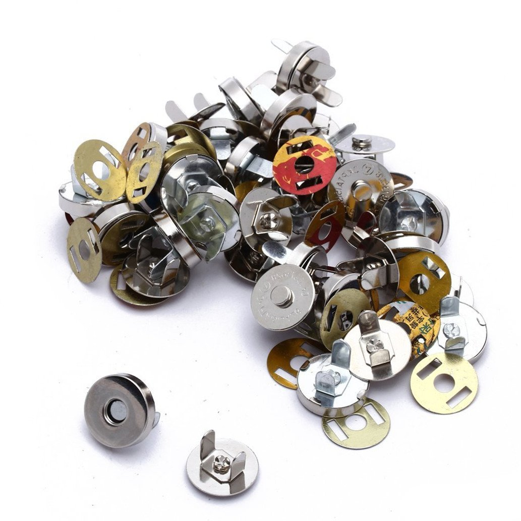 HONGCI 25 Sets Magnetic Bag Clasps Great for Sewing, Craft, Clothing, Bag, Scrapbooking, and More