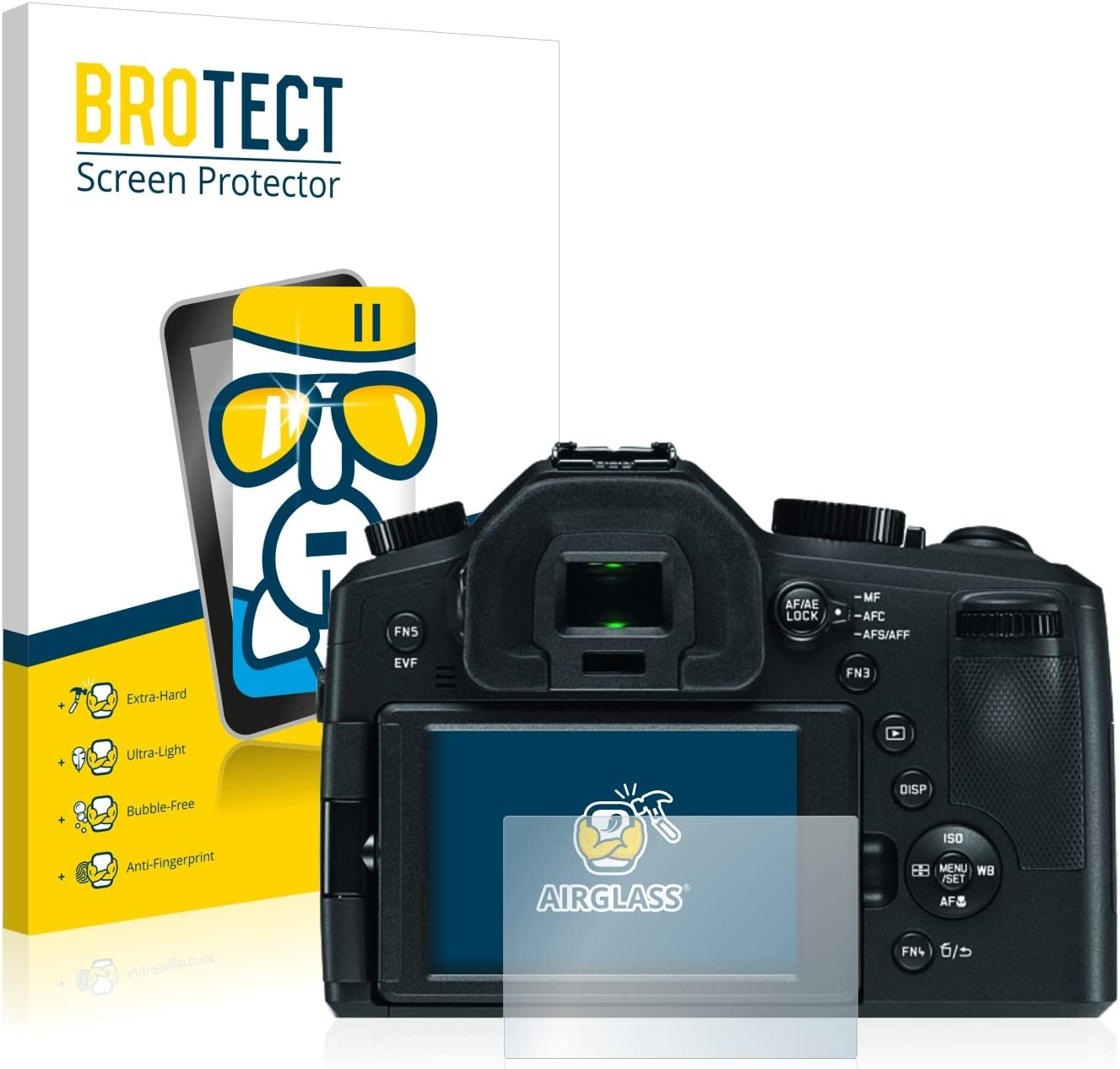 AirGlass Typ 114 9H Glass Protector brotect Glass Screen Protector compatible with Leica V-LUX