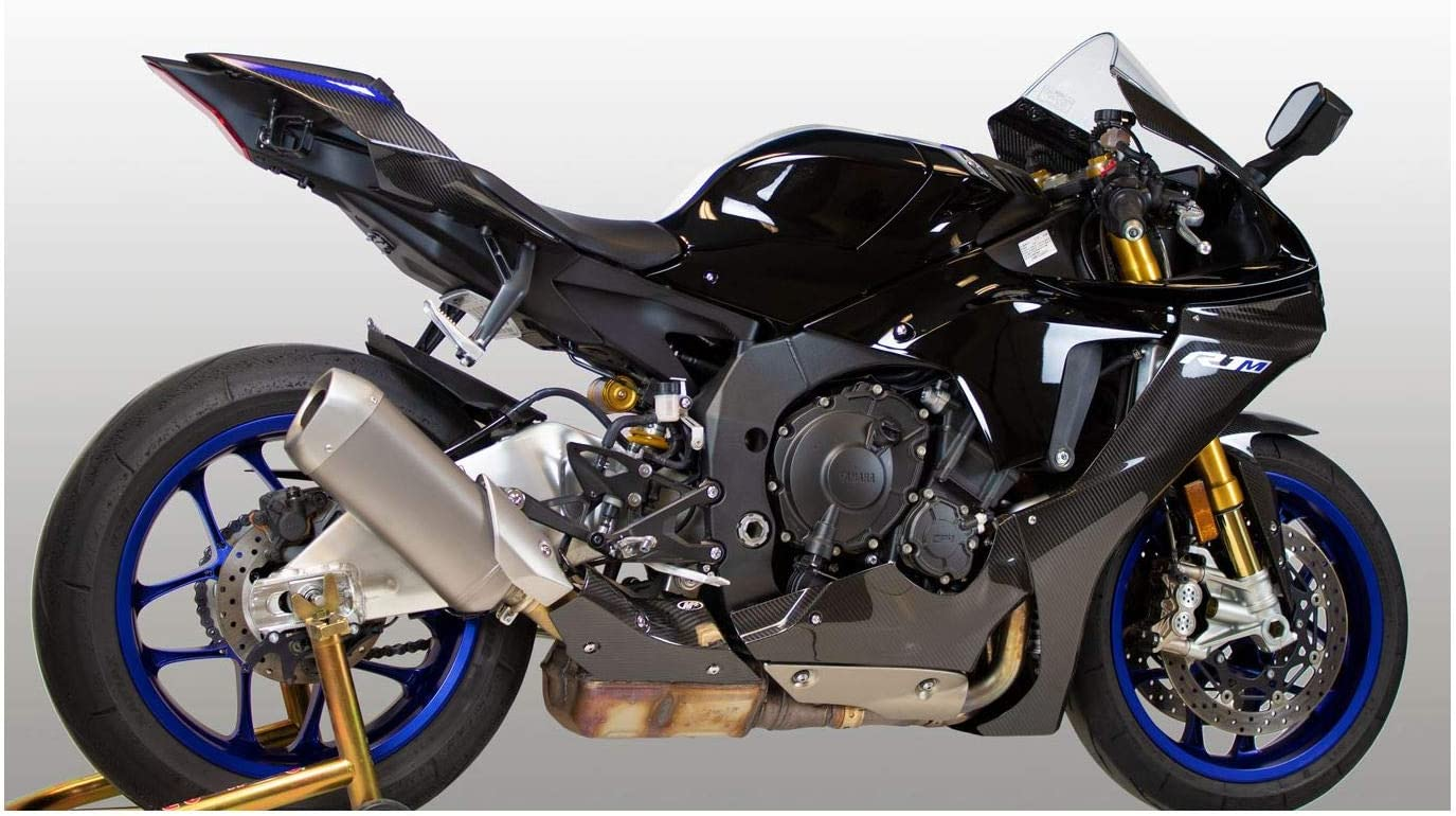 M4 Performance Exhaust carbon fiber heat shield compatible with 2015-2020 Yamaha R1 HG-YAR115
