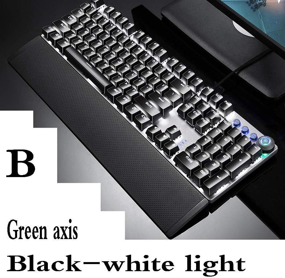 Color : B Desktop Laptop Wired Keyboard USB Interface//Cool Color Photoelectric Gaming Keyboard Keyboard Xiao Jian Game Mechanical Keyboard
