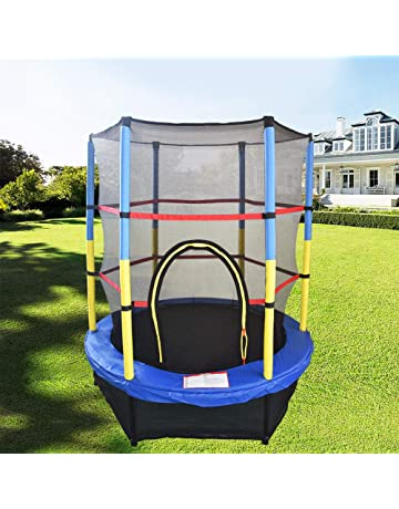 35b93db9d5a17 Greenbay 55inch 4.5FT Kid Indoor Outdoor Trampoline Set with Skirt and Safety  Net