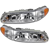 Driver and Passenger Headlights Headlamps with Corner Lamps Replacement for Buick 19244639 19244638