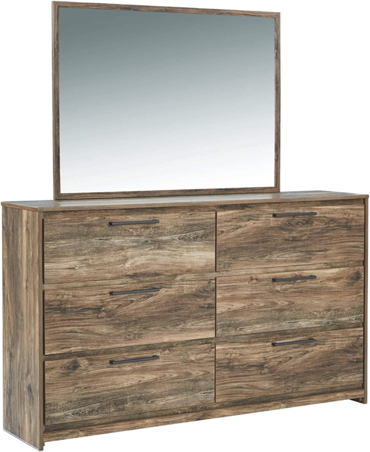Signature Design by Ashley Rusthaven Bedroom Mirror, Brown