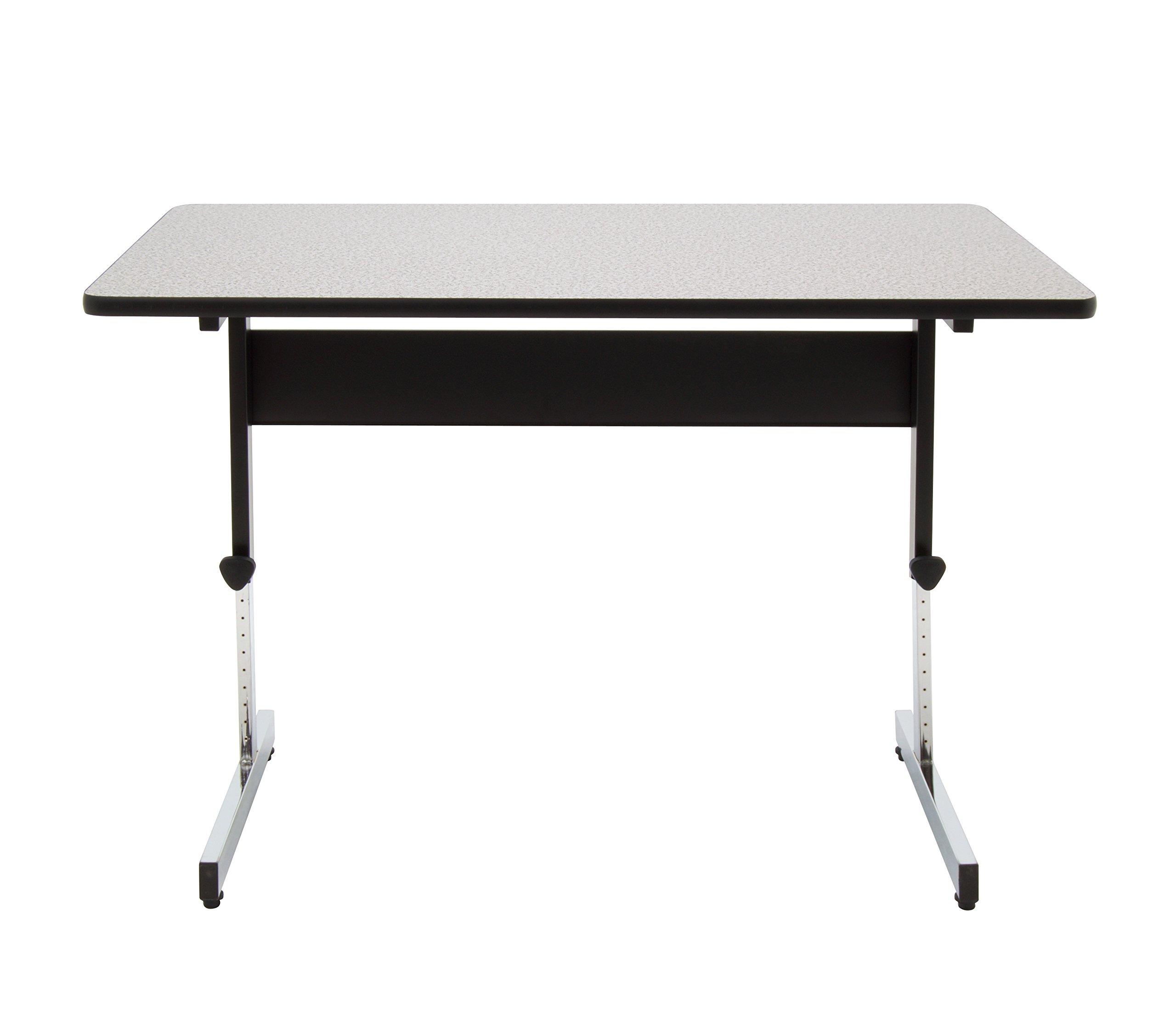 Calico Designs 410382.0 Adapta Desk, 48'', Black/Spatter Gray