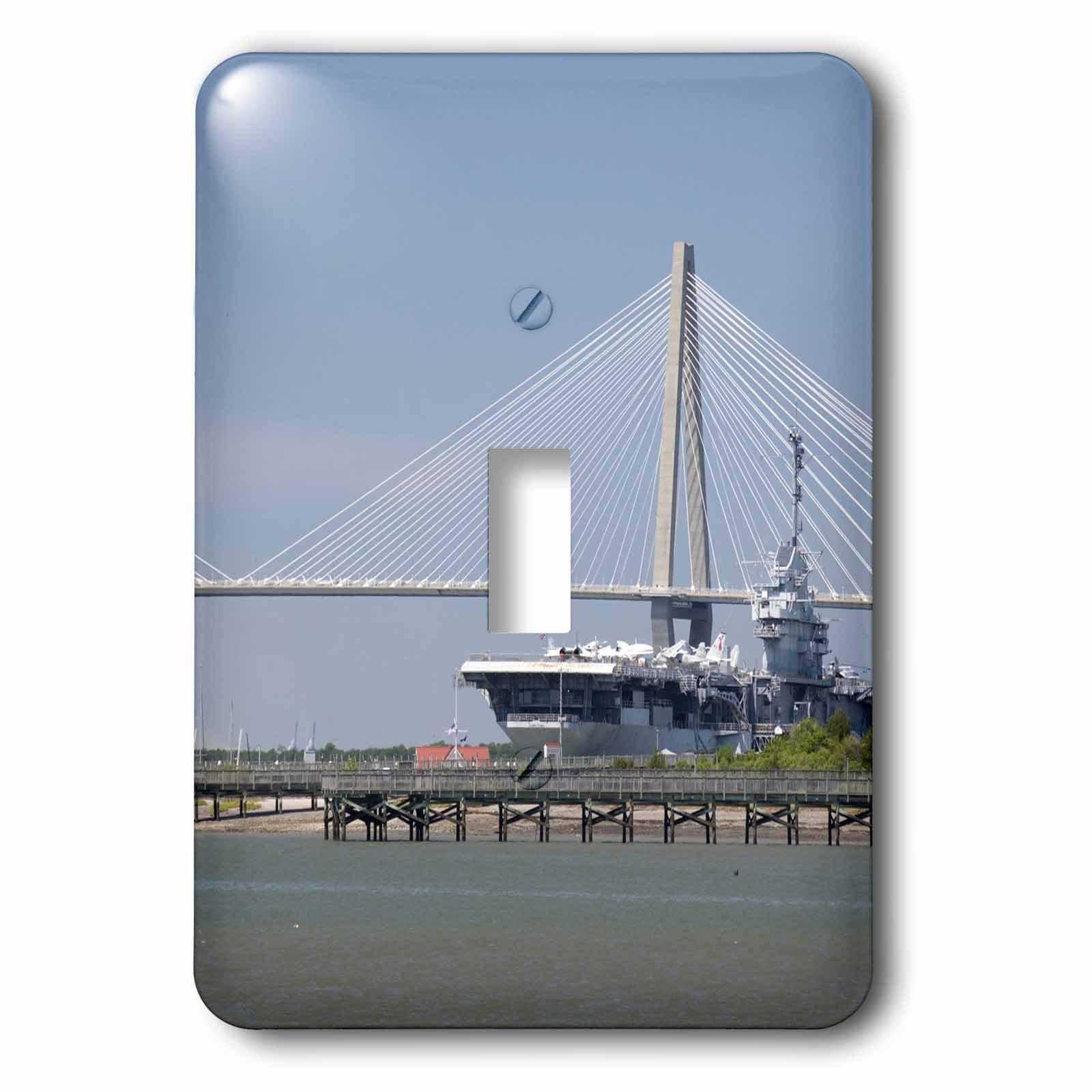 3dRose lsp_94257_1 Sc, Ravenel Bridge Yorktown Aircraft Carrier - Us41 Cmi0056 - Cindy Miller Hopkins - Single Toggle Switch