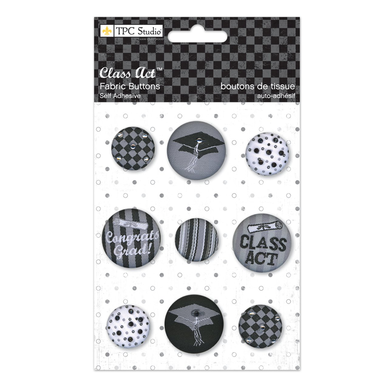 The Paper Company, 2010157, Class Act Fabric Buttons by THE PAPER COMPANY   B003DNR4MI