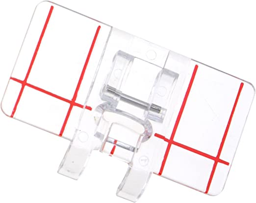 Clear Stitch Guide Foot Sewing Machine Presser Feet Parallel Stitch Snap On