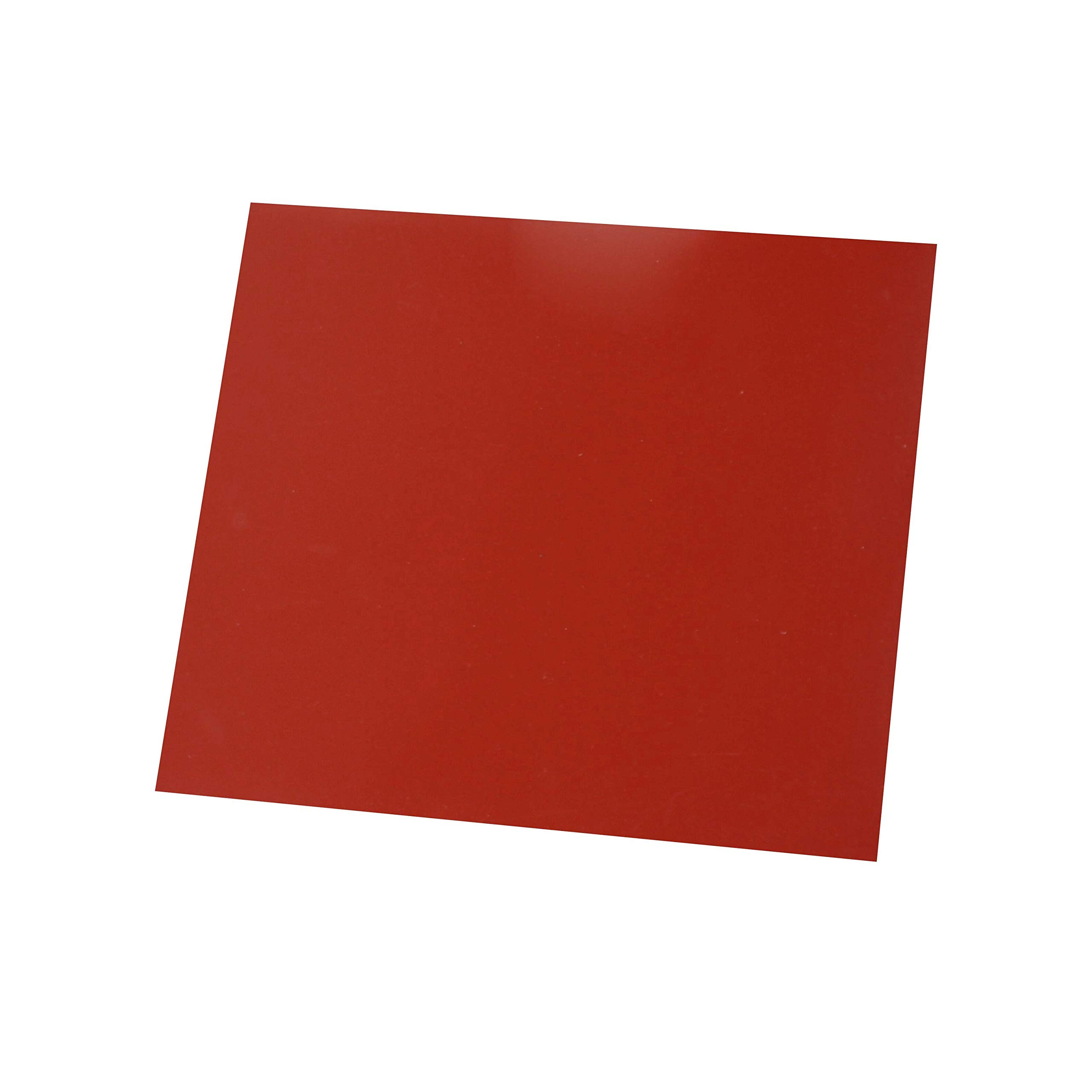 Flexible Heat Resistant Silicone Rubber Sheeting, High Temp,Smooth Finish, Red 1/8 by 12 by 12 inch by Laimeisi