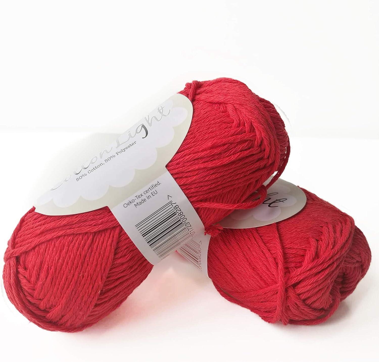 Hilo de mezcla de algodón para tejer y ganchillo, 3 o ligero, peinado, DK peso, gotas de algodón ligero, 1.8 oz 115 yardas por bola: Amazon.es: Juguetes y juegos