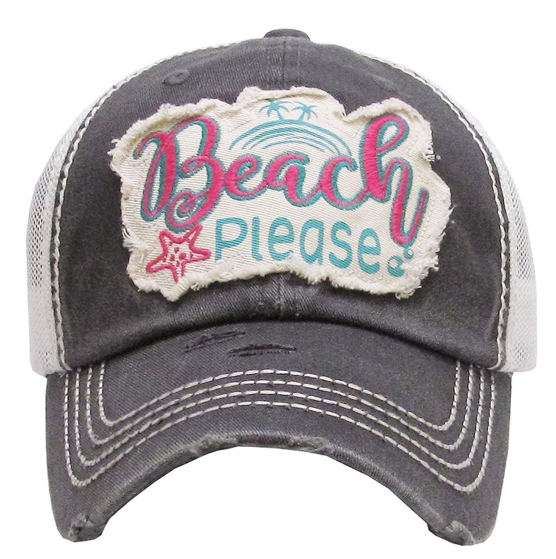 8dd29091d Kbethos Trading Beach Please Women's Vintage Cotton Mesh Baseball Hat