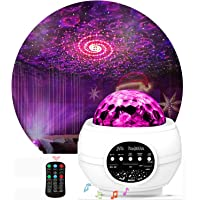 QingHong Night Light Projector ,Star Projector ,LED Galaxy Ocean Wave Projector Bluetooth Music Speaker for Baby Bedroom…