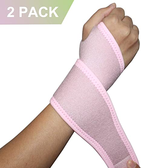 Right/&Left 2Pack 2020 New Version Profession Wrist Support Brace Adjustable Wrist Strap Reversible Wrist Brace for Sports Protecting//Tendonitis Pain Relief//Carpal Tunnel//Arthritis