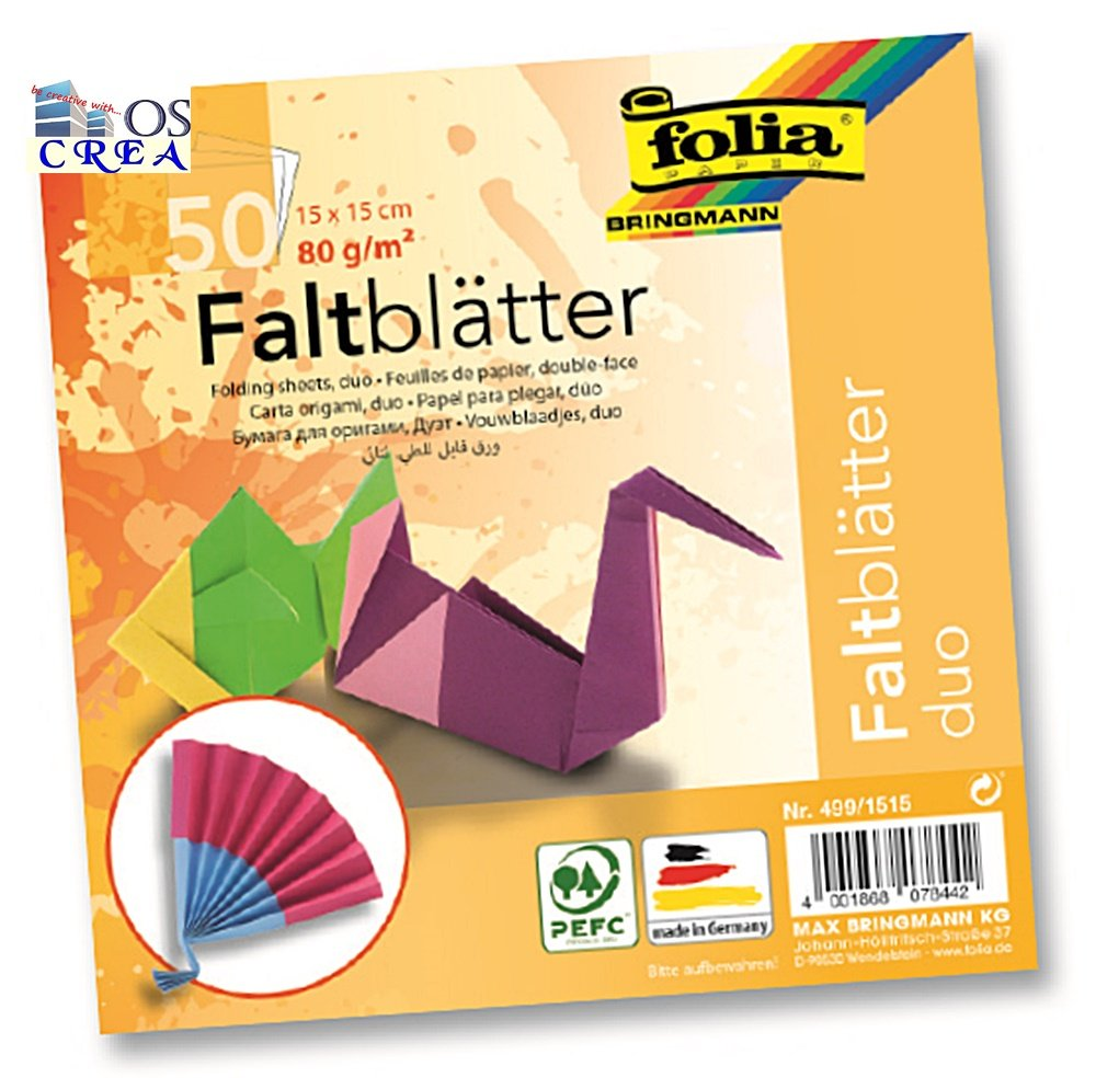 Folia 499/1515 pieghevole bltter Duo, 150 X 150 mm, 50 fogli 150X 150mm 50fogli