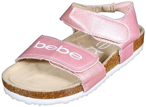 Amazon.com: Bebe - Sandalias de corcho cómodas para niña con ...