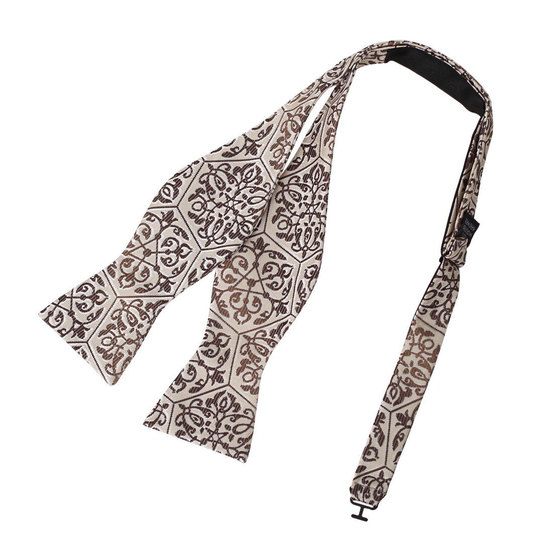 Dan Smith Mens Fashion Gift Patterned Microfiber Mens Self-tied Bowtie With Free Gift Box