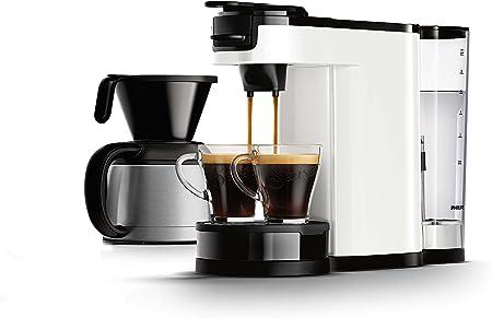 Senseo HD7892/01 Independiente Semi-automática - Cafetera (Independiente, Cafetera combinada, Color blanco, Taza/Jarra, Botones, Acero inoxidable): Amazon.es: Hogar