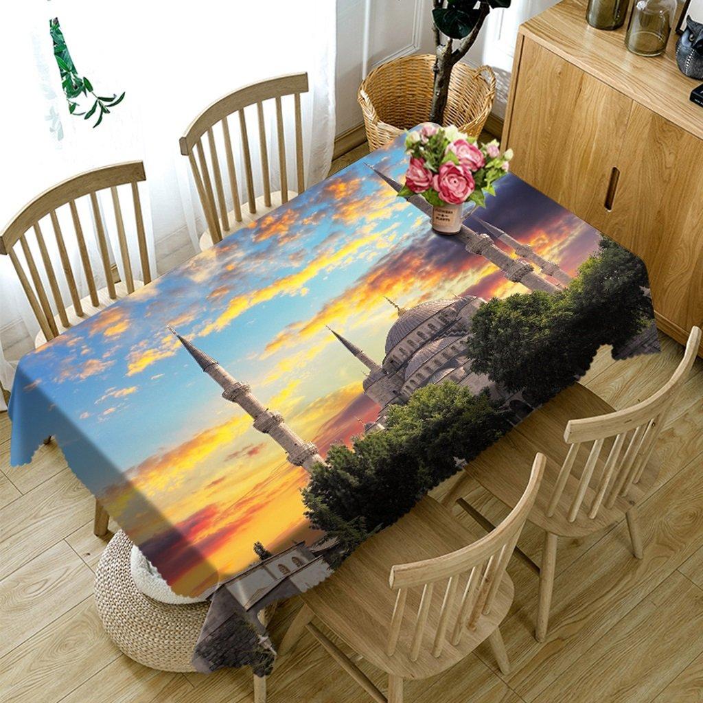 Unbekannt %Tablecloth Rechteckige Tischdecken - 3D Landschaft Serie Tischdecke MT2 - Umweltfreundlich und geschmacklos - Digital Bedruckt Wasserdicht (größe   Rectangular -50cmx130cm) B07DB8YQ8D TischdeckenInnovation | Starker Wert