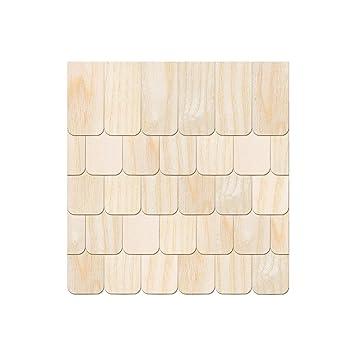 Echtholz Furnier dunkle Schindeln Gr/ö/ßen- und Mengenauswahl halbrund Pack mit:500 St/ück Biberschwanz//Rundschnitt Schindelgr/ö/ße:40mm x 20mm