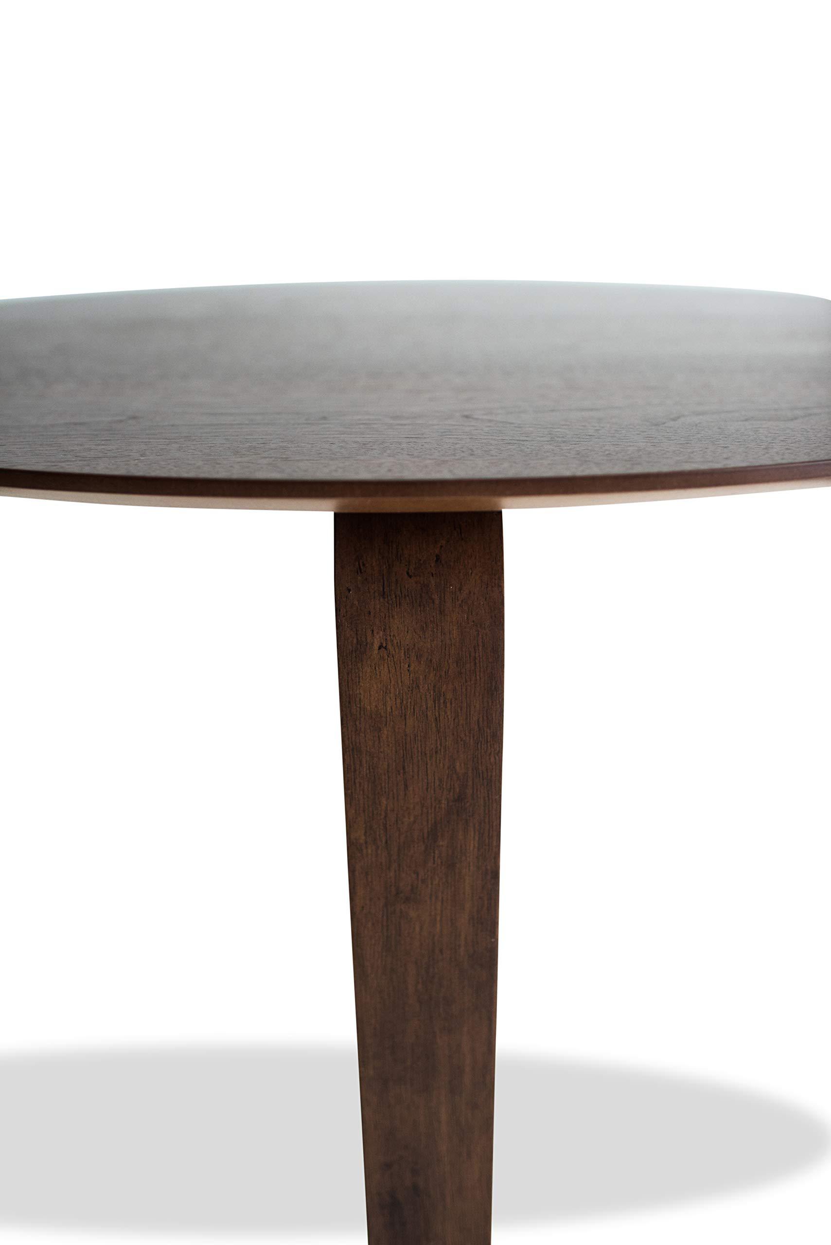 Edloe Finch YUMI Mid-Century Modern Round Dining Table Kitchen Walnut by Edloe Finch (Image #8)