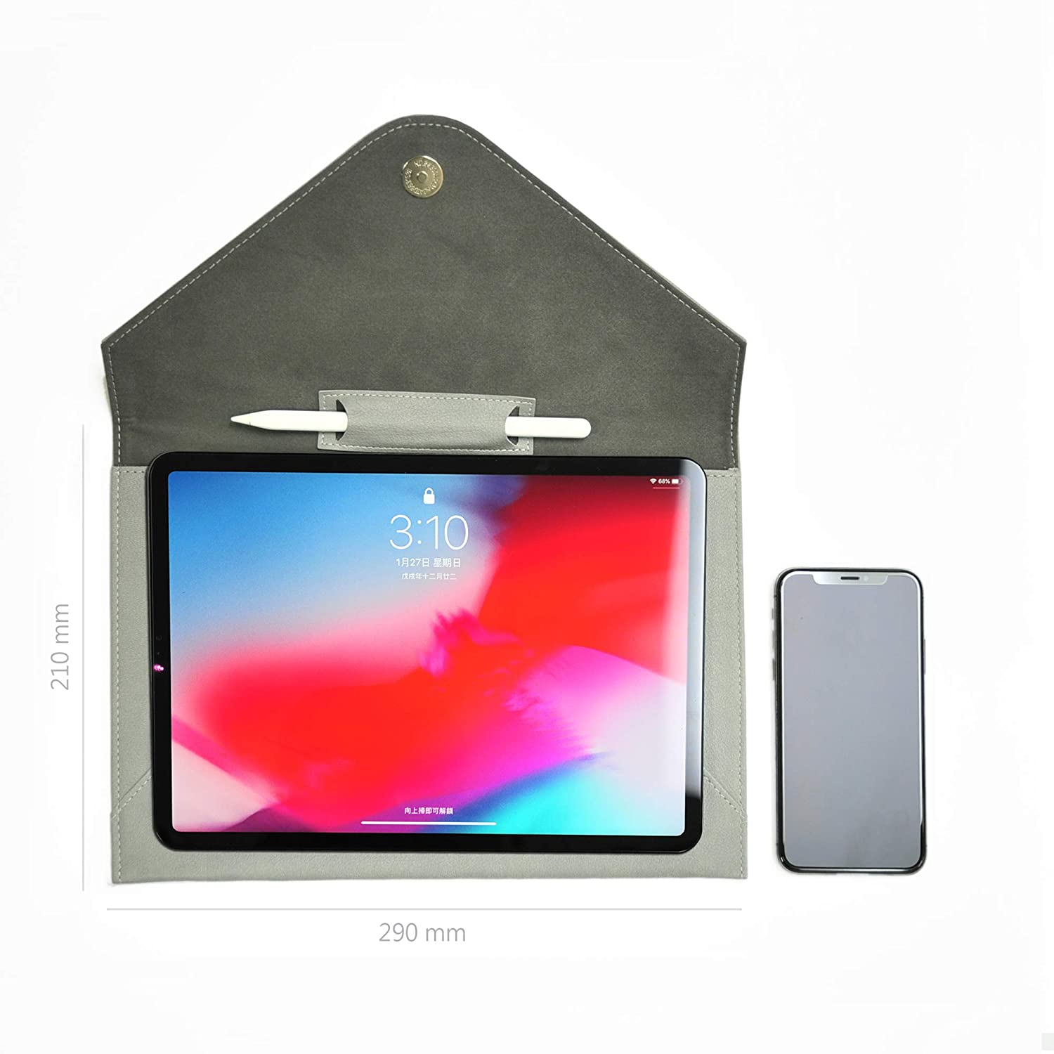 """Sleeve for iPad Pro 11 inch 10-11 inch, Duck Egg Pen Holder /& Pocket Water Resistant Fits for 9.7 to 10.5 Tablet Surface Go Bellagenda 10.5 inch Tablet Sleeve Case Samsung Galaxy Tab 9.7/"""""""