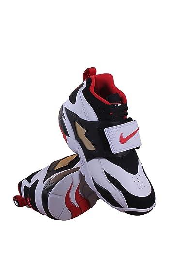 309434-105 MEN AIR DIAMOND TURF NIKE WHITE BLACK SPORT RED
